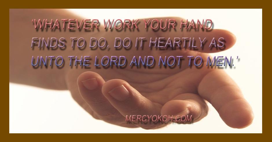 work with joy